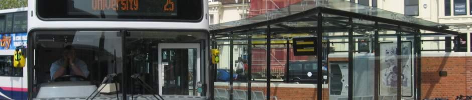 bus stopbike parking