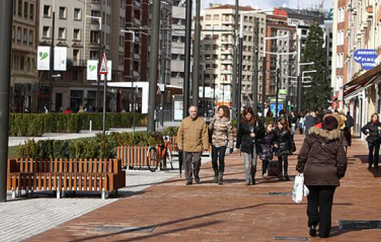"""<a href=""""/content/vitoria-gasteiz"""">Vitoria - Gasteiz</a> MODERNSancho el Sabio, main street of the demonstrative superblock, after works finished.<a href=""""/thematic-categories/access-management-and-road-pricing"""" typeof=""""skos:Concept"""" property=""""rdfs:label skos:prefLabel"""" datatype="""""""">Access management and road pricing</a> <a href=""""/transport-modes/walking"""" typeof=""""skos:Concept"""" property=""""rdfs:label skos:prefLabel"""" datatype="""""""">Walking</a>"""