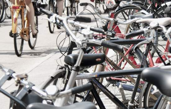 "These bikes were pictured at Amsterdam's Waterlooplein, where copious facilities are available for storage. The widespread availability of cycle paths and the bikes extensive use ensure a virtual obligation upon citizens to rely on two wheels, which practically are the easiest and fastest way to transit Amsterdam!<a href=""/thematic-categories/walking-and-cycling-enhancementsservices"" typeof=""skos:Concept"" property=""rdfs:label skos:prefLabel"" datatype="""">Walking and cycling enhancements/services</a> <a href=""/transport-modes/cycling"" typeof=""skos:Concept"" property=""rdfs:label skos:prefLabel"" datatype="""">Cycling</a>"