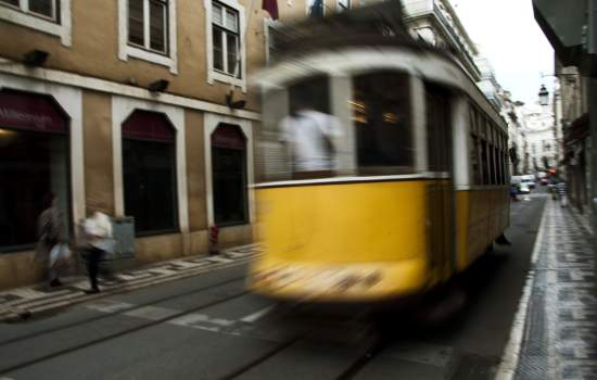 "The infamous Tram Number 28 on Rua Da Conceicao in Lisbon Portugal<a href=""/thematic-categories/accessibility"" typeof=""skos:Concept"" property=""rdfs:label skos:prefLabel"" datatype="""">Accessibility</a> <a href=""/transport-modes/tram"" typeof=""skos:Concept"" property=""rdfs:label skos:prefLabel"" datatype="""">Tram</a>"