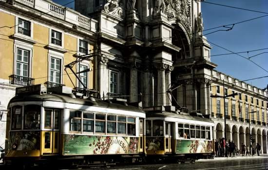 "Tram at Arco da Rua Augusta Lisbon Portugal<a href=""/thematic-categories/intermodality"" typeof=""skos:Concept"" property=""rdfs:label skos:prefLabel"" datatype="""">Intermodality</a> <a href=""/transport-modes/tram"" typeof=""skos:Concept"" property=""rdfs:label skos:prefLabel"" datatype="""">Tram</a>"