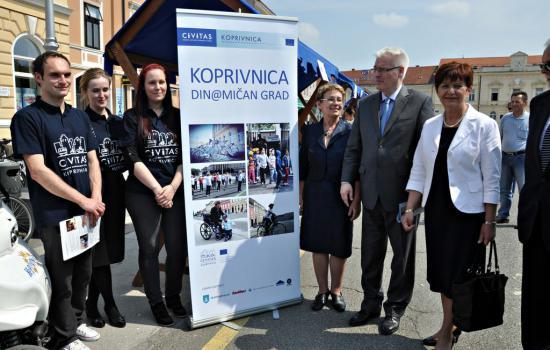 "<a href=""/content/koprivnica"">Koprivnica</a> DYN@MODr Ivo Josipović, President of Croatia, with <a href=""mailto:Dyn@mo"">Dyn@mo</a> Koprivnica work team and Mrs Vesna Želježnjak, Acting Mayor of Koprivnica<a href=""/thematic-categories/civitas-plus-ii"" typeof=""skos:Concept"" property=""rdfs:label skos:prefLabel"" datatype="""">CIVITAS PLUS II</a> <a href=""/transport-modes/bus"" typeof=""skos:Concept"" property=""rdfs:label skos:prefLabel"" datatype="""">Bus</a>, <a href=""/transport-modes/clean-vehicle"" typeof=""skos:Concept"" property=""rdfs:label skos:prefLabel"" datatype="""">Clean vehicle</a>, <a href=""/transport-modes/cycling"" typeof=""skos:Concept"" property=""rdfs:label skos:prefLabel"" datatype="""">Cycling</a>, <a href=""/transport-modes/walking"" typeof=""skos:Concept"" property=""rdfs:label skos:prefLabel"" datatype="""">Walking</a>, <a href=""/transport-modes/other"" typeof=""skos:Concept"" property=""rdfs:label skos:prefLabel"" datatype="""">Other</a>"