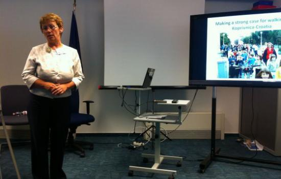 """<a href=""""/content/zagreb"""">Zagreb</a> ELANMs Helena Hečimović from City of Korivnica holds presentation on Active Access activities in her city.<a href=""""/thematic-categories/civitas-plus-ii"""" typeof=""""skos:Concept"""" property=""""rdfs:label skos:prefLabel"""" datatype="""""""">CIVITAS PLUS II</a> <a href=""""/transport-modes/cycling"""" typeof=""""skos:Concept"""" property=""""rdfs:label skos:prefLabel"""" datatype="""""""">Cycling</a>, <a href=""""/transport-modes/walking"""" typeof=""""skos:Concept"""" property=""""rdfs:label skos:prefLabel"""" datatype="""""""">Walking</a>"""