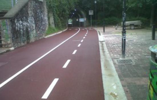 """<a href=""""/content/donostia-san-sebasti%C3%A1n-0"""">Donostia - San Sebastián</a> ARCHIMEDESFormer train tunnel turned into a cycling lane.<a href=""""/thematic-categories/walking-and-cycling-enhancementsservices"""" typeof=""""skos:Concept"""" property=""""rdfs:label skos:prefLabel"""" datatype="""""""">Walking and cycling enhancements/services</a> <a href=""""/transport-modes/cycling"""" typeof=""""skos:Concept"""" property=""""rdfs:label skos:prefLabel"""" datatype="""""""">Cycling</a>"""