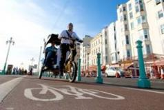 Cycling path in Brighton & Hove