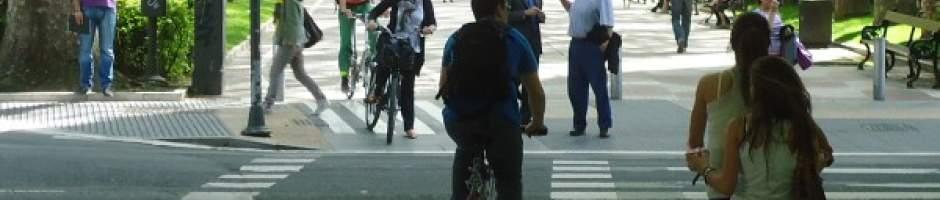 Cyclists in Vitoria-Gasteiz.