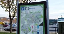 Panel with information about the new public transport network in Vitoria-Gasteiz.