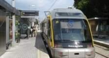 Tram stop in Porto