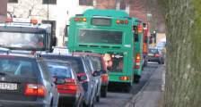 congestionbus stuck in traffic