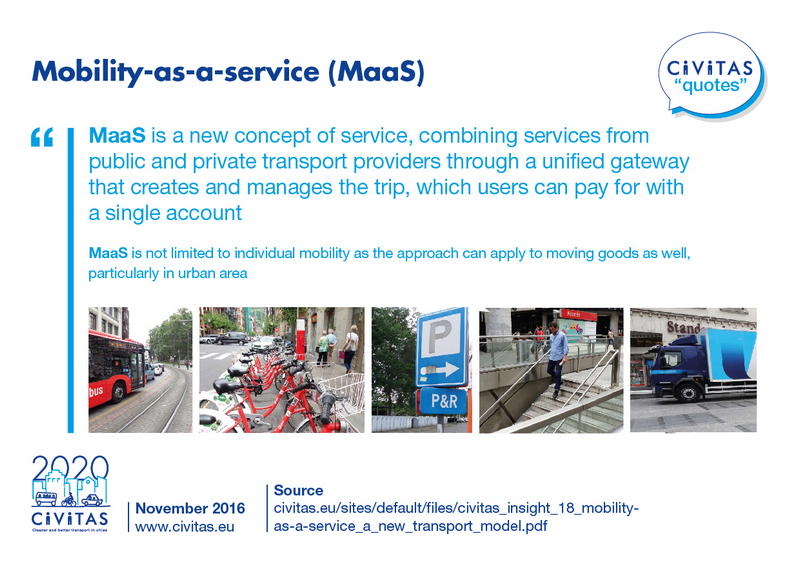 CIVITAS QUOTES: Mobility-as-a-service (MaaS) | CIVITAS